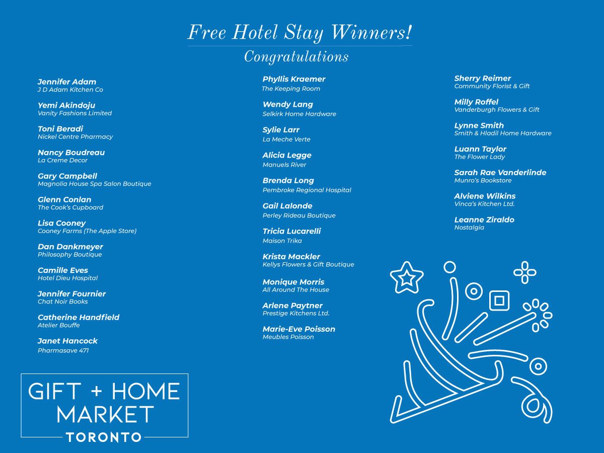 Free hotel stay winners